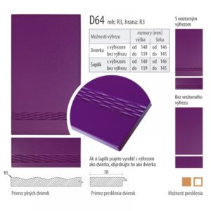 Dvierka s vlnkou, D64 | VHprodukt