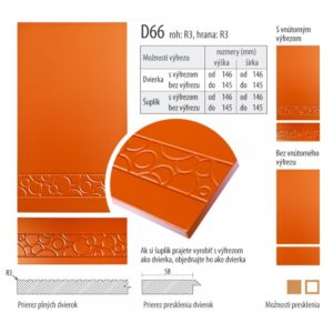 Dvierka s vlnkou, D66 | VHprodukt