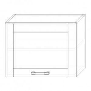 108. H60VS – skrinka horná 1-dver. 600 výklopná presklená