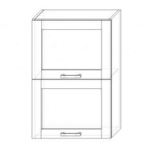 109. H60-2dv-V – skrinka horná 2-dver. 600 výklopná presklená