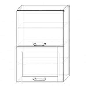 110. H60-2dv-V – skrinka horná 2-dverová 600 výklopná