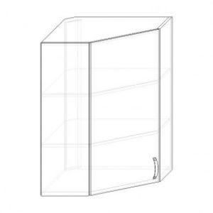 112. H60R – skrinka horná 1-dverová rohová 600