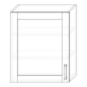 72/A skrinka horná 1-dverová 600 presklenná P+L