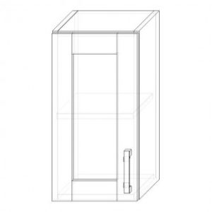 34. H30S – skrinka horná 1-dverová 300 presklená P+Ľ