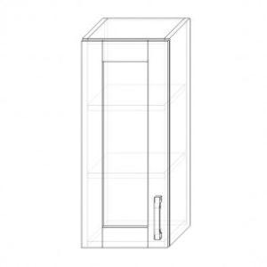 66. H30S – skrinka horná 1-dverová 300 presklená P+Ľ