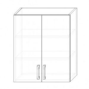 71. H60-2dv – skrinka horná 2-dverová 600