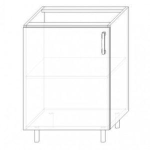14. S60-1DV – skrinka spodná 1-dverová 600 P+Ľ