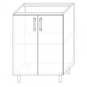 15. S60-2DV – skrinka spodná 2-dverová 600