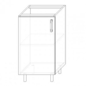 10. S45 – skrinka spodná 1-dverová 450 P+Ľ